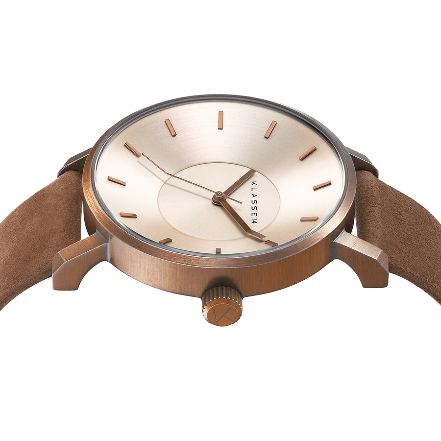 Vintage Gold Brown Leather 36MM