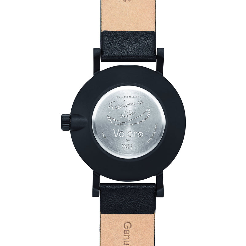 VOLARE CLASSIC Dark/Black Leather 36MM