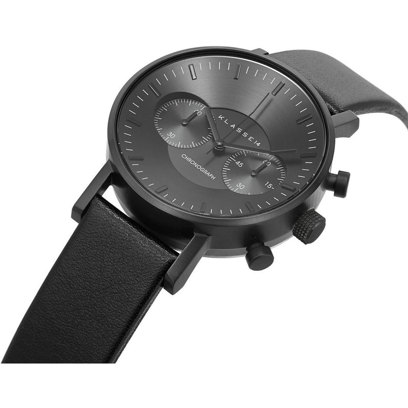 VOLARE CHRONOGRAPH Dark/Black Leather 42MM