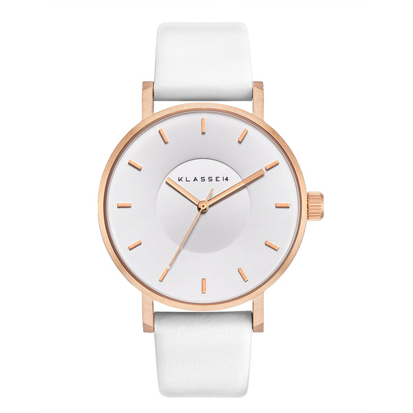 VOLARE White Rose/White Leather 42MM