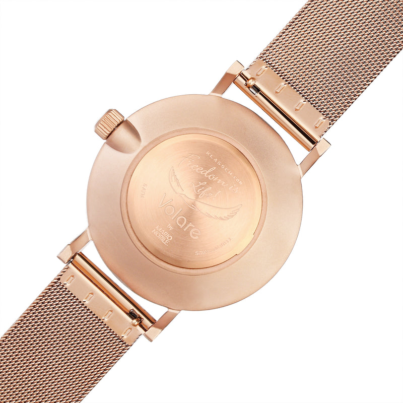 VOLARE White Rose/Rose Gold Mesh 42MM