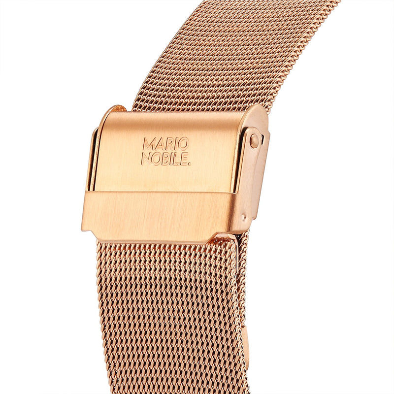 VOLARE White Rose/Rose Gold Mesh 36MM