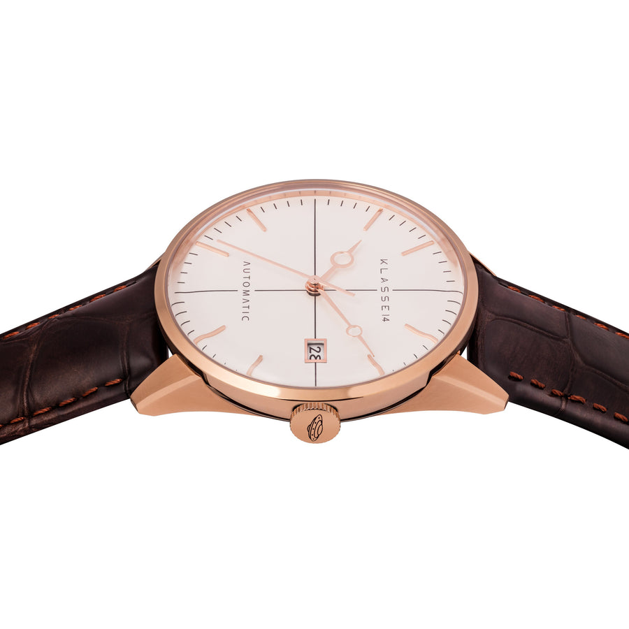 Disco Volante Rose Gold/Brown Leather 40MM (Automatic)