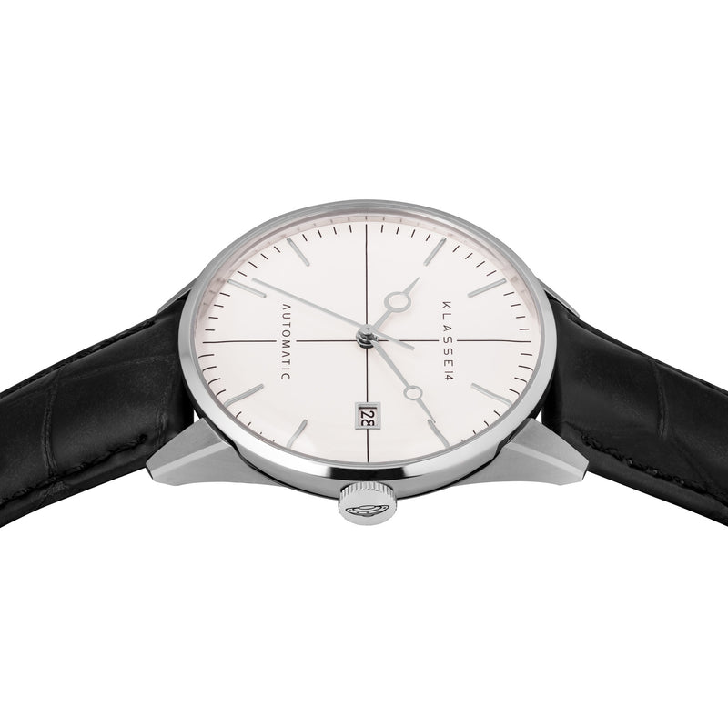 Disco Volante Silver/Black Leather 40MM (Automatic)