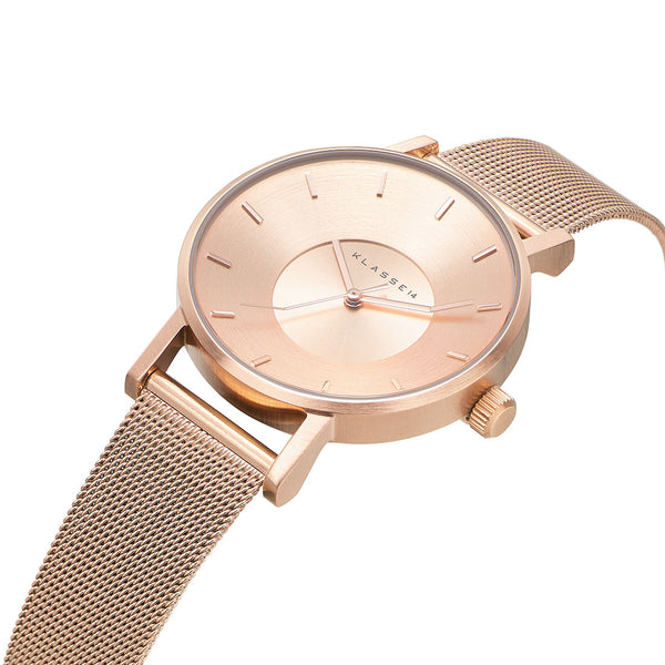 VOLARE CLASSIC Rose Gold Mesh 36MM