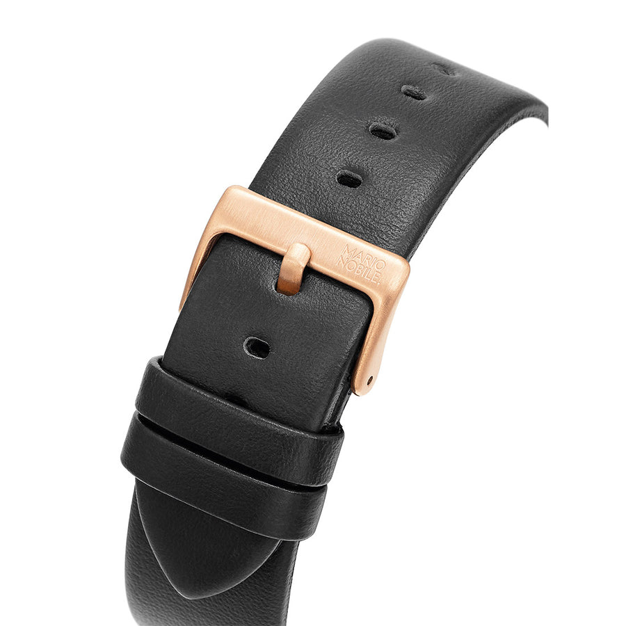 VOLARE CLASSIC Rose Gold/Black Leather 42MM