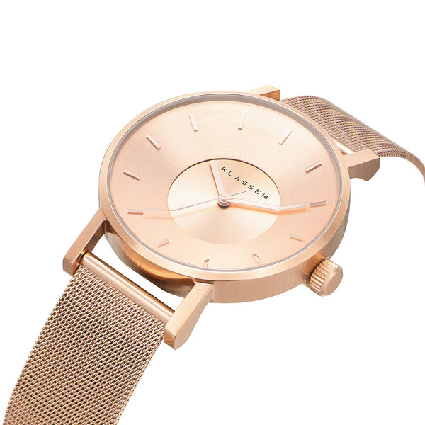 VOLARE CLASSIC Rose Gold Mesh 42MM