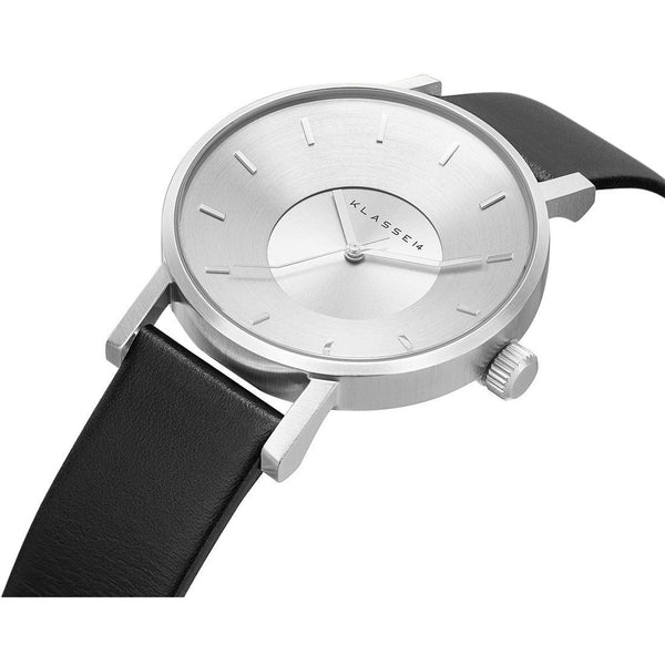 VOLARE CLASSIC Silver/Black Leather 36MM/42MM