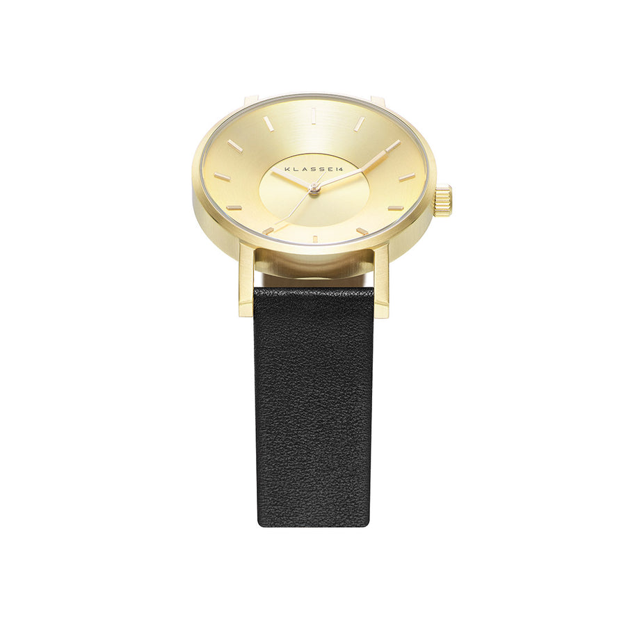 VOLARE CLASSIC Gold/Black Leather 42MM