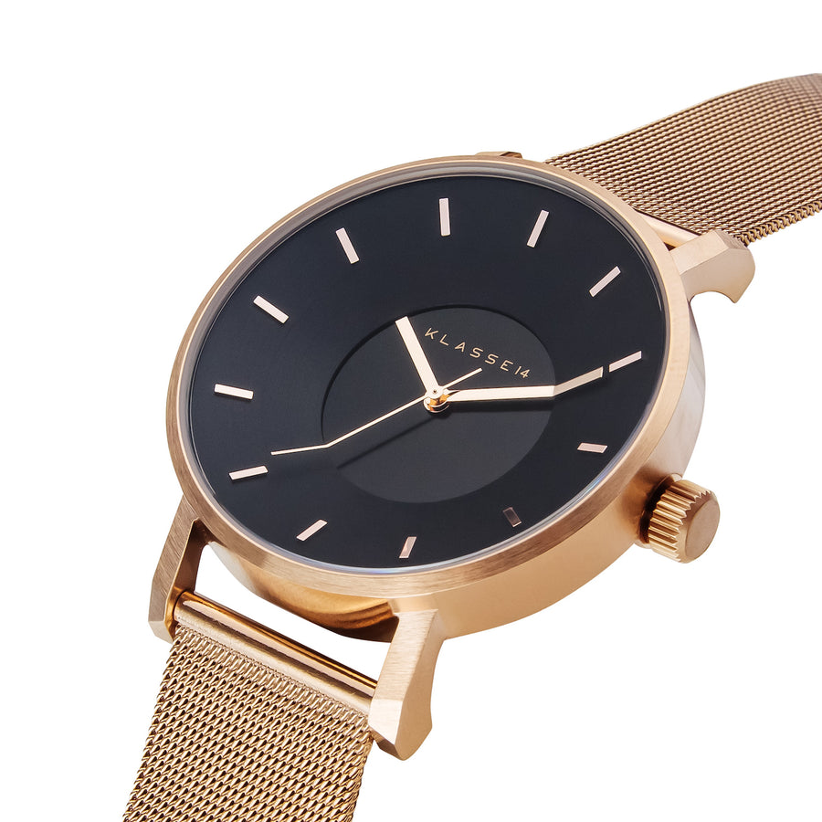 VOLARE Dark Rose/Rose Gold Mesh 36MM