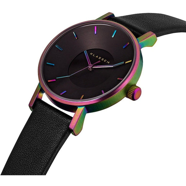 VOLARE RAINBOW Black Leather 36MM