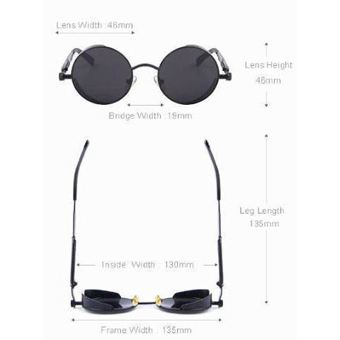 Black Retro Sunglasses-The Steampunk Cave