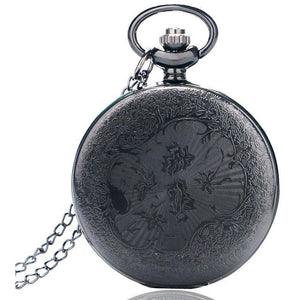 Black Steampunk Pocket Watch-The Steampunk Cave