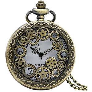 Gears Steampunk Pocket Watch-The Steampunk Cave