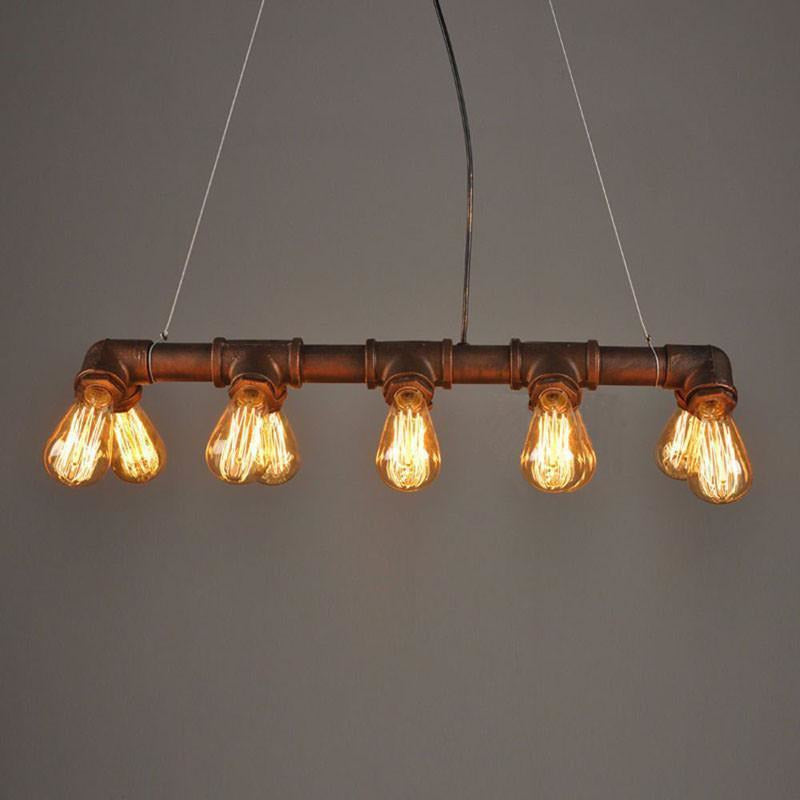 Industrial Steampunk Pendant Lamp - 10 Light Sources-The Steampunk Cave