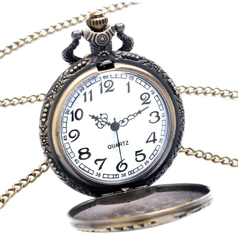 Locomotive Pocket Watch-The Steampunk Cave