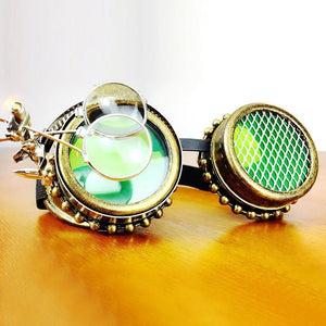 Menace Round Punk Goggles-The Steampunk Cave