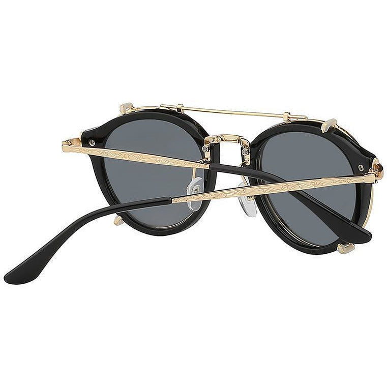 Modern Black Steampunk Sunglasses-The Steampunk Cave