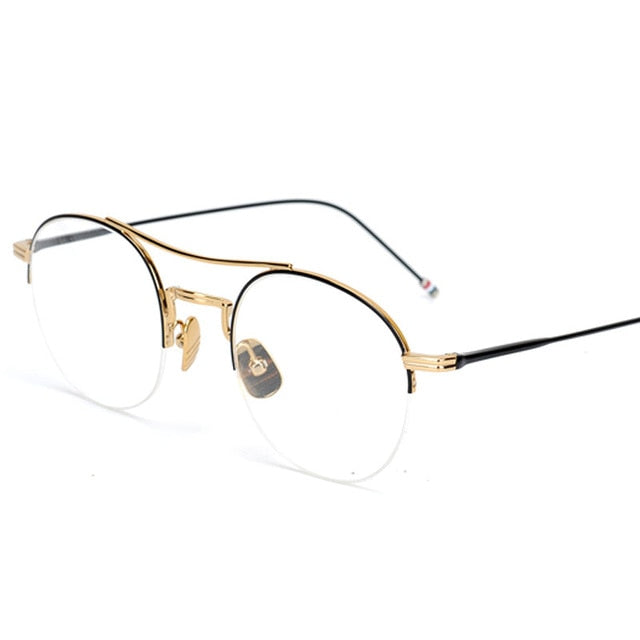 Steampunk Round Clear Computer Glasses