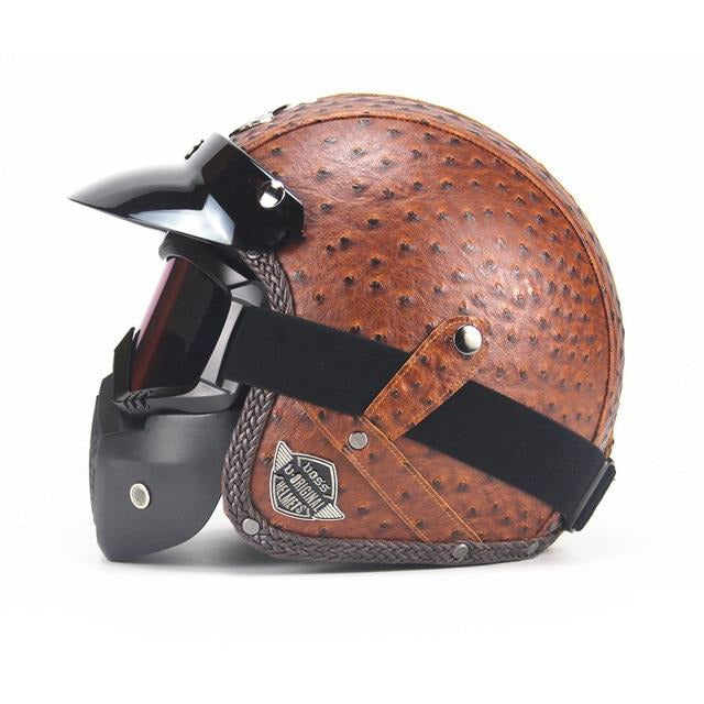 DOT Certified Vintage Motorcycle Helmet – 7 Variants-Helmet-The Steampunk Cave