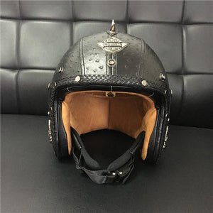 DOT Certified Badass Open Face Helmet – 5 Sizes-Helmet-The Steampunk Cave