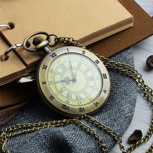 Roman Numbers Pocket Watch-The Steampunk Cave
