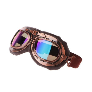Steampunk Motorcycle Goggles – 5 Color Variants