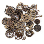 Clock Gear Charms – 40-Piece Pack-The Steampunk Cave
