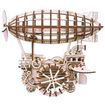 Airship 3D Wooden Building Kit-The Steampunk Cave