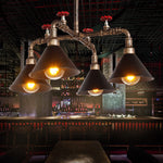 Industrial Iron Steampunk Loft Water Pipe Pendant Lights