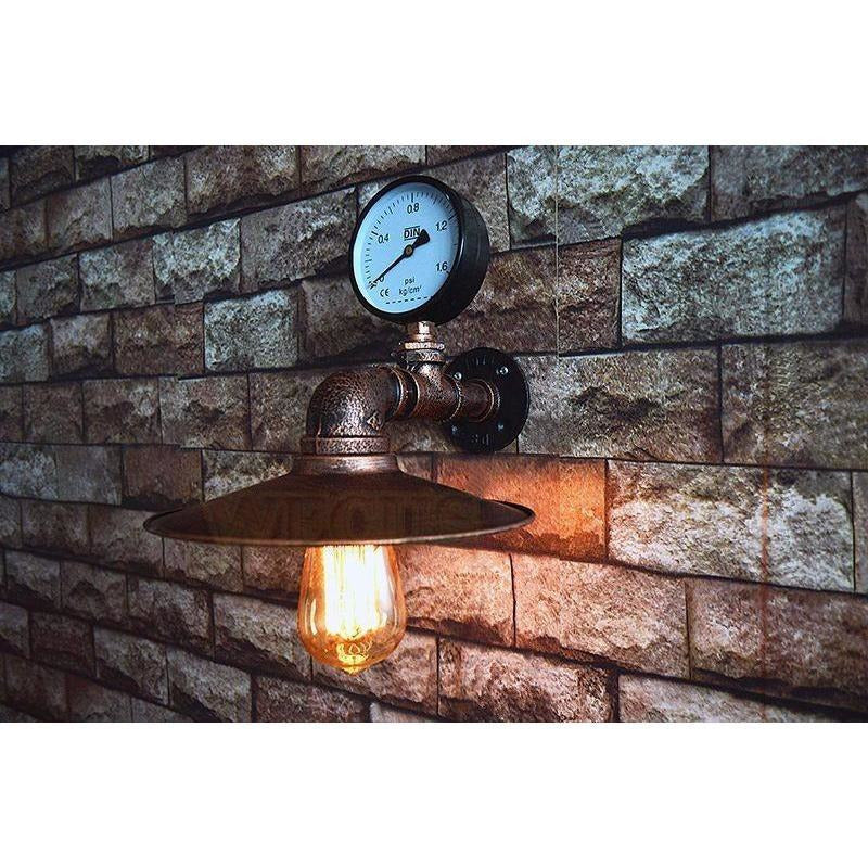Retro Wall Sconce-The Steampunk Cave