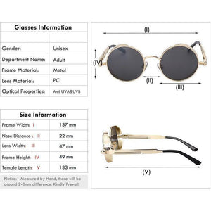 Rusty-Core Round Sunglasses-The Steampunk Cave