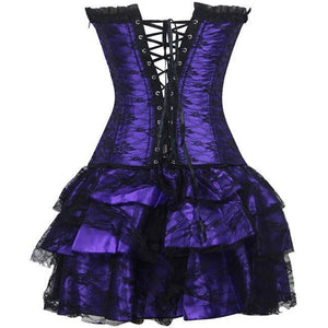 Steampunk Corset Dress - 4 Color Variants-The Steampunk Cave