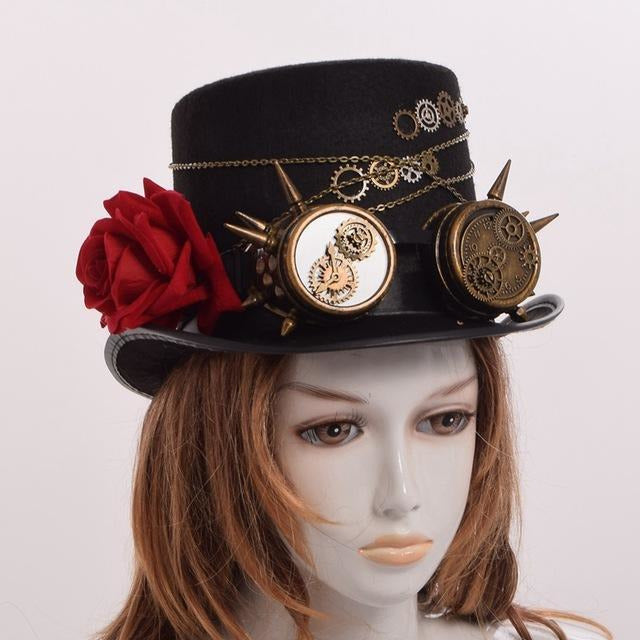 Steampunk Gears Top Hat-The Steampunk Cave