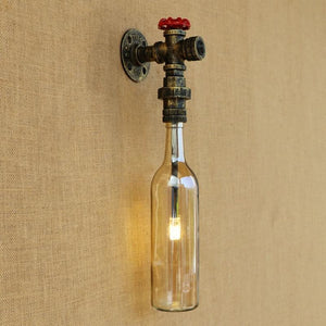 Steampunk Glass Wall Lamp - 4 Color Variants-The Steampunk Cave
