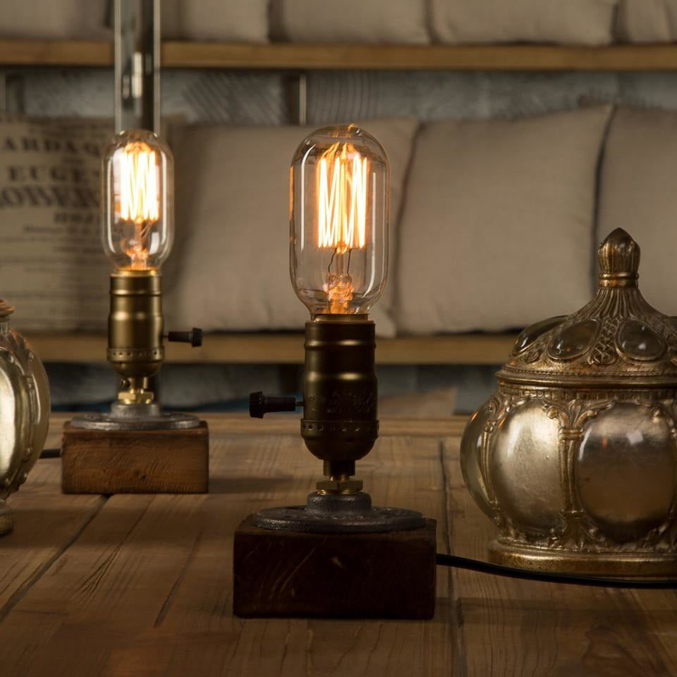 Vintage Desk Lamp with Dimmer – 1 Light Source-The Steampunk Cave