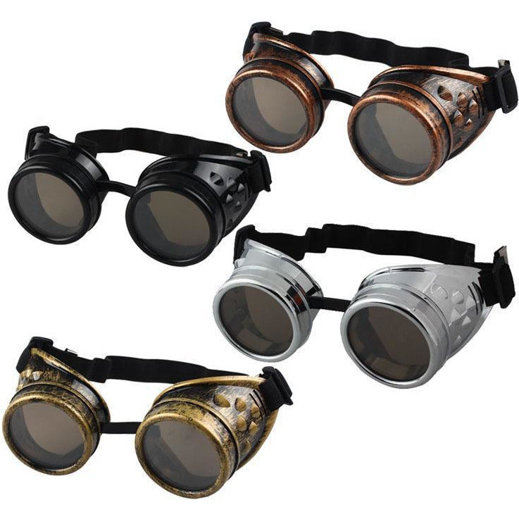 Vintage Steampunk Goggles – 4 Color Variants-The Steampunk Cave