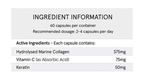 Hair Skin and Nails Marine Collagen Capsules