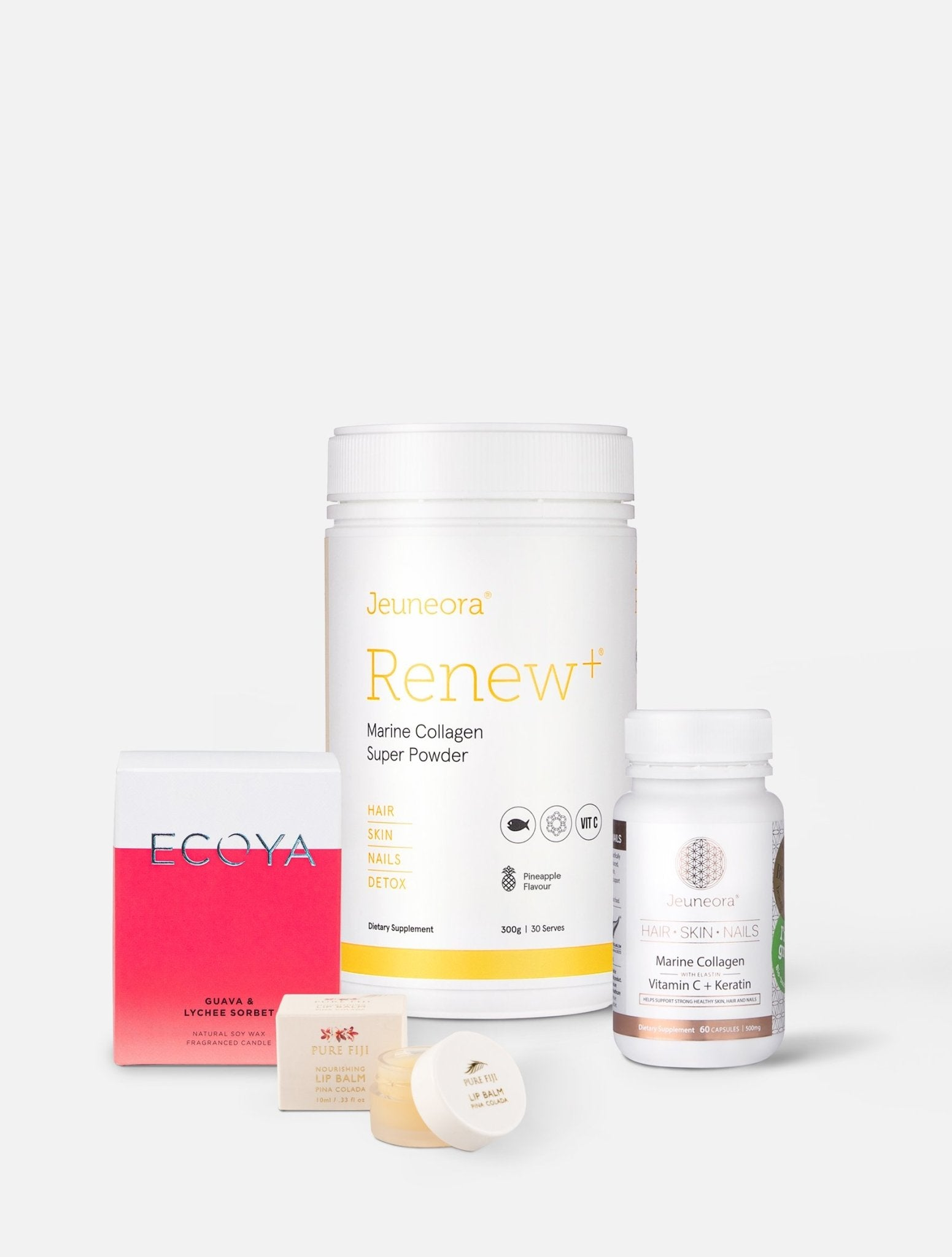 Glow Beauty Box with Renew+® & Hair Skin Nails - Jeuneora® Australia