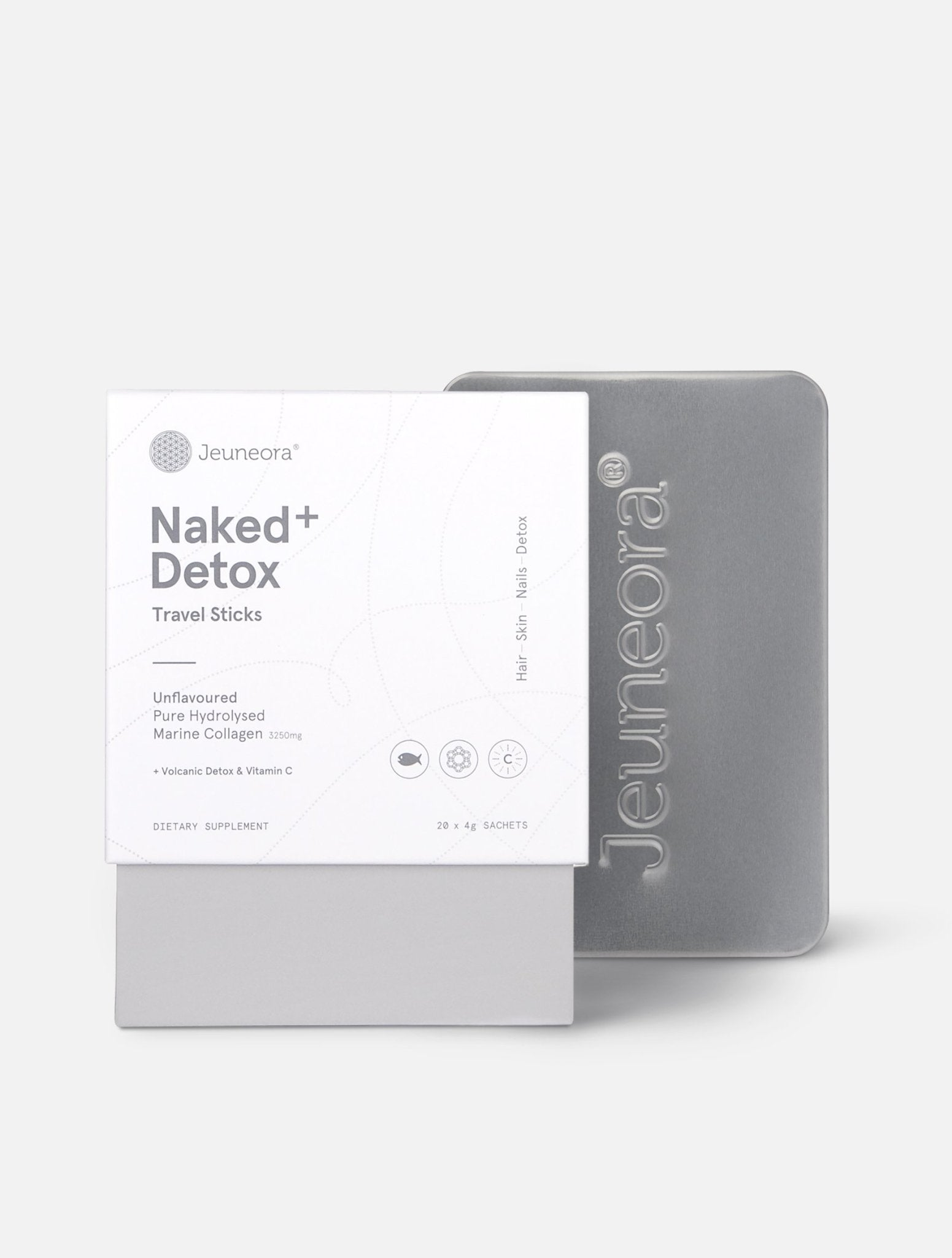 Travel Combo Naked+ Detox Travel Sticks and Jeuneora Travel Tin - Jeuneora® Australia