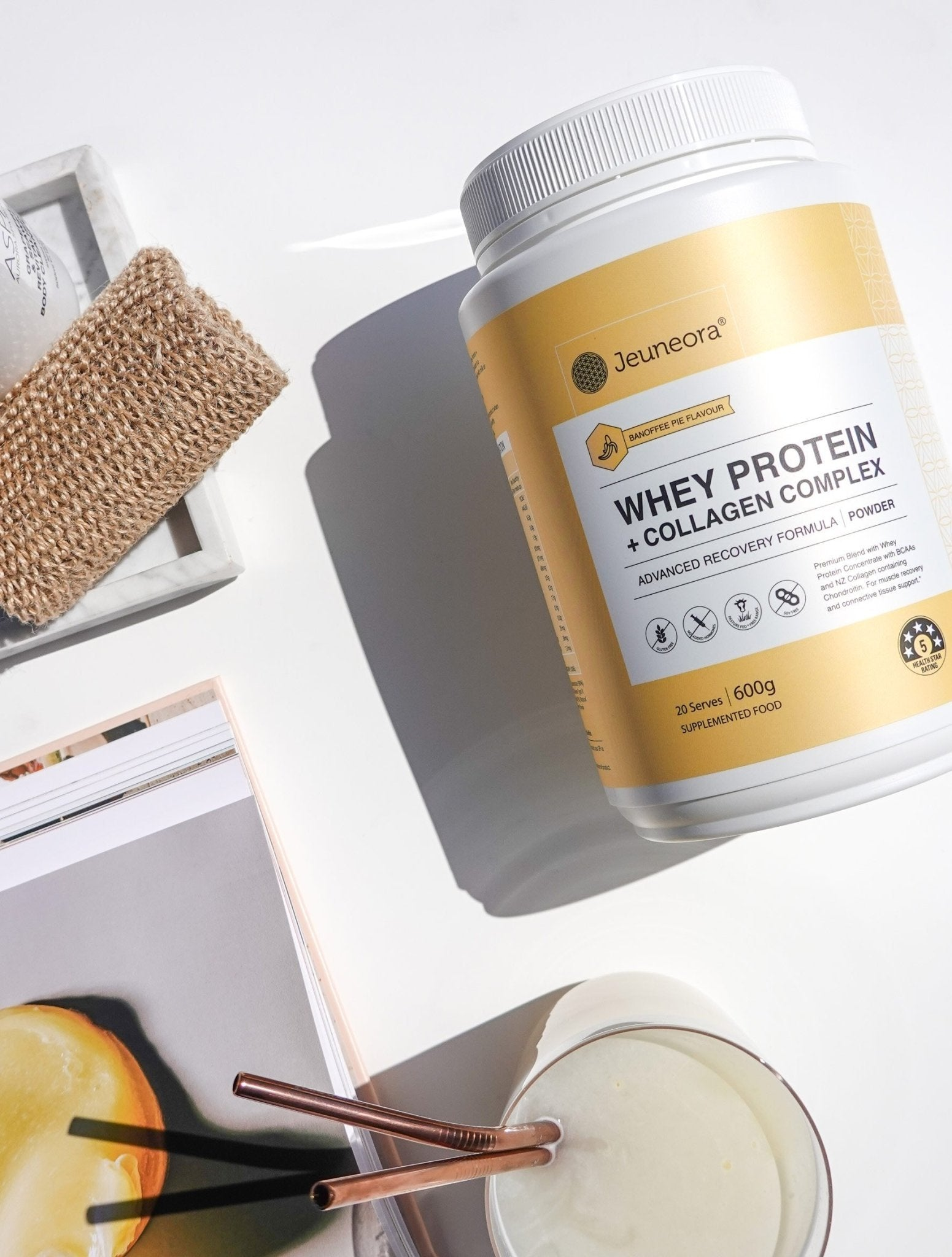 Whey Protein + Collagen Complex Powder - Banoffee Pie - Jeuneora® Australia
