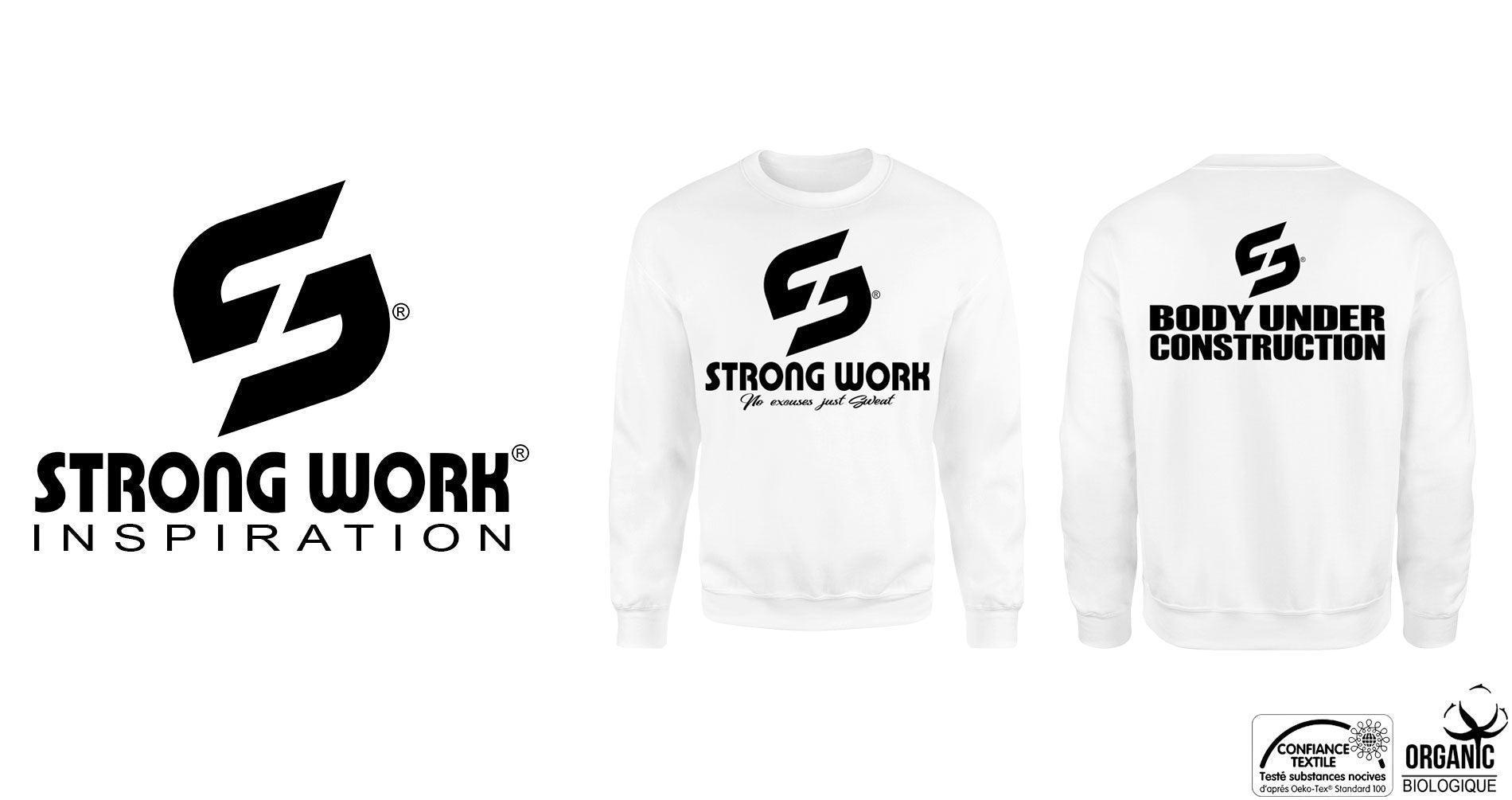 SWEAT-SHIRTS HOMME STRONG WORK INSPIRATION