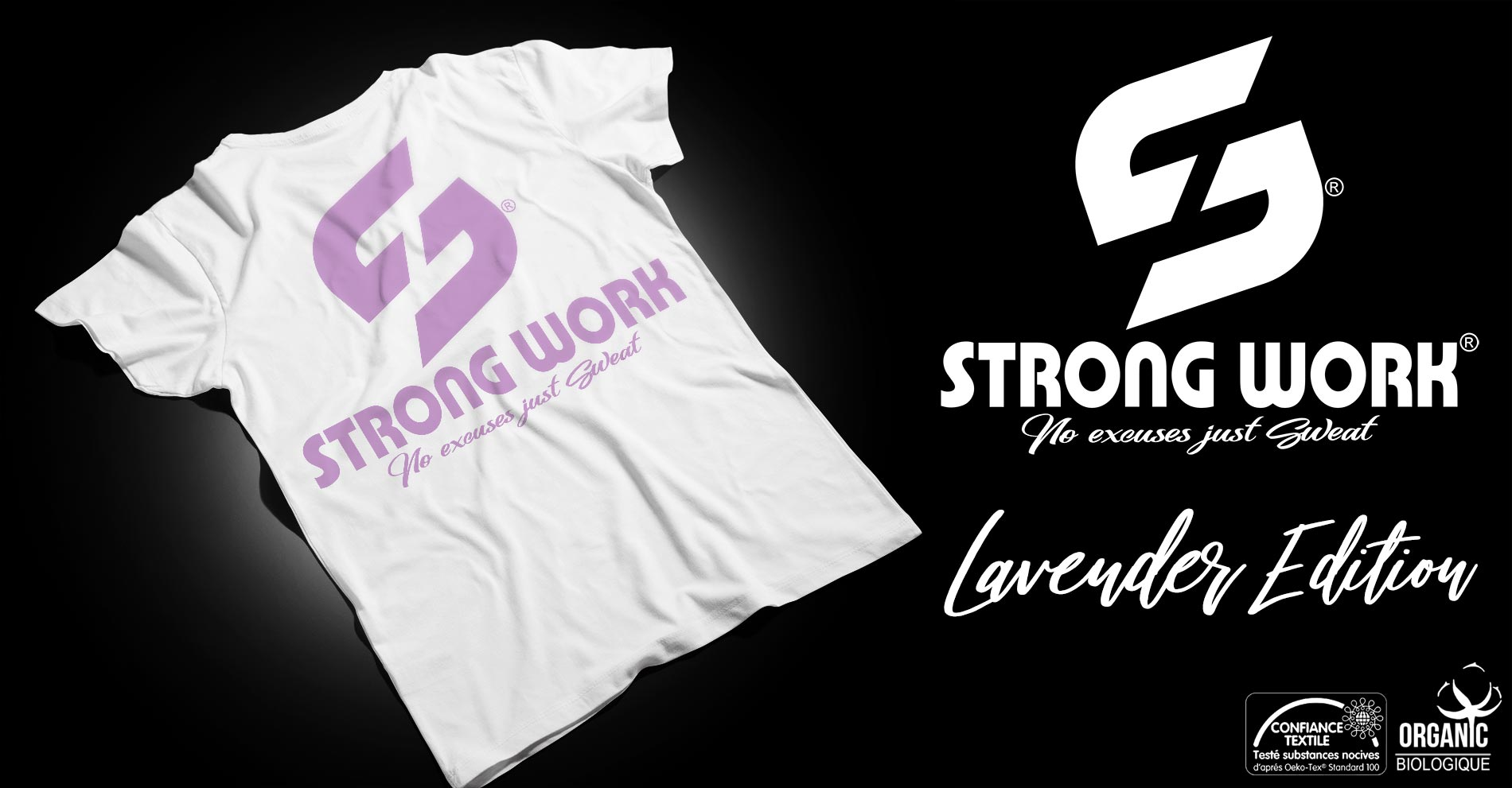 STRONG WORK LAVENDER EDITION POUR HOMME - SPORTSWEAR ECO-RESPONSABLE