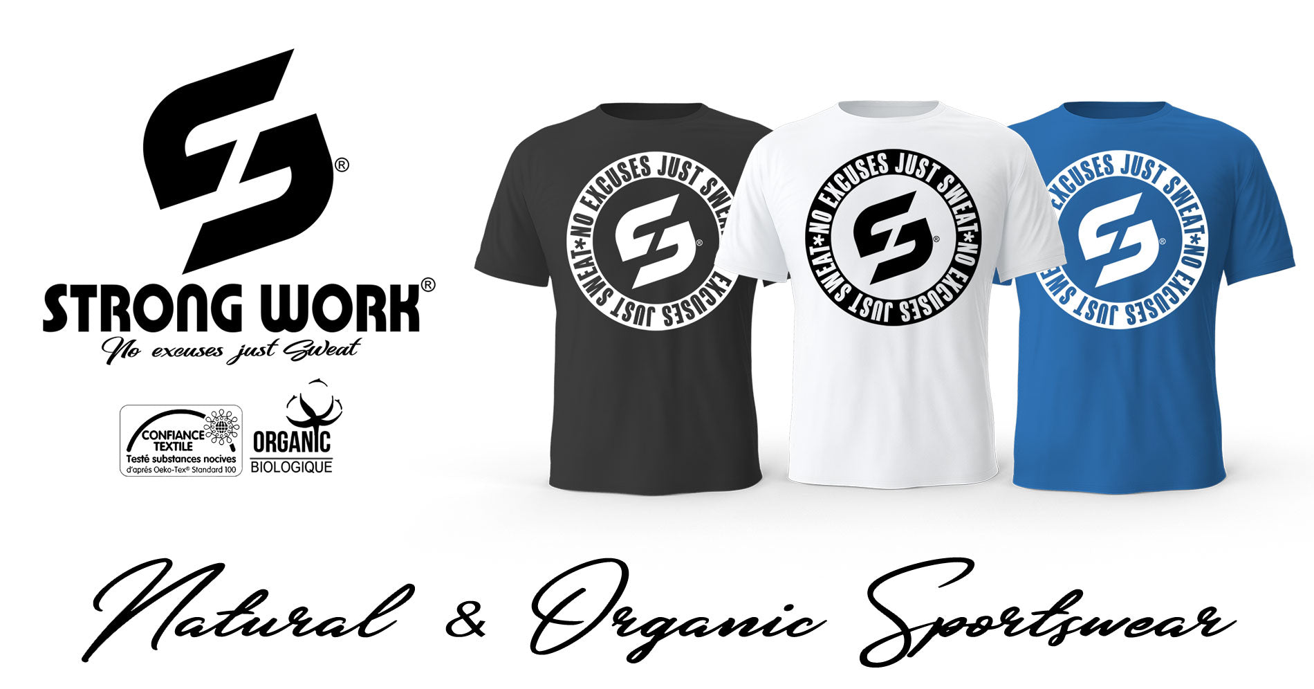 STRONG WORK NO EXCUSES BLACK EDITION POUR HOMME