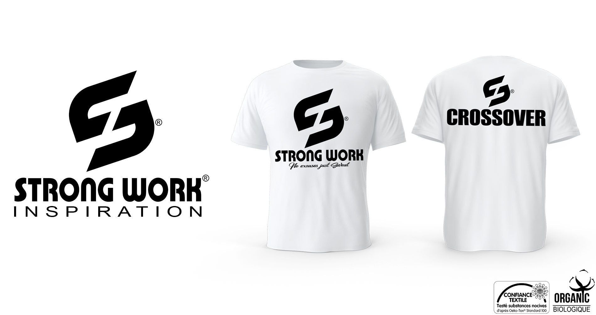 T-SHIRT BIO STRONG WORK CROSSOVER POUR HOMME