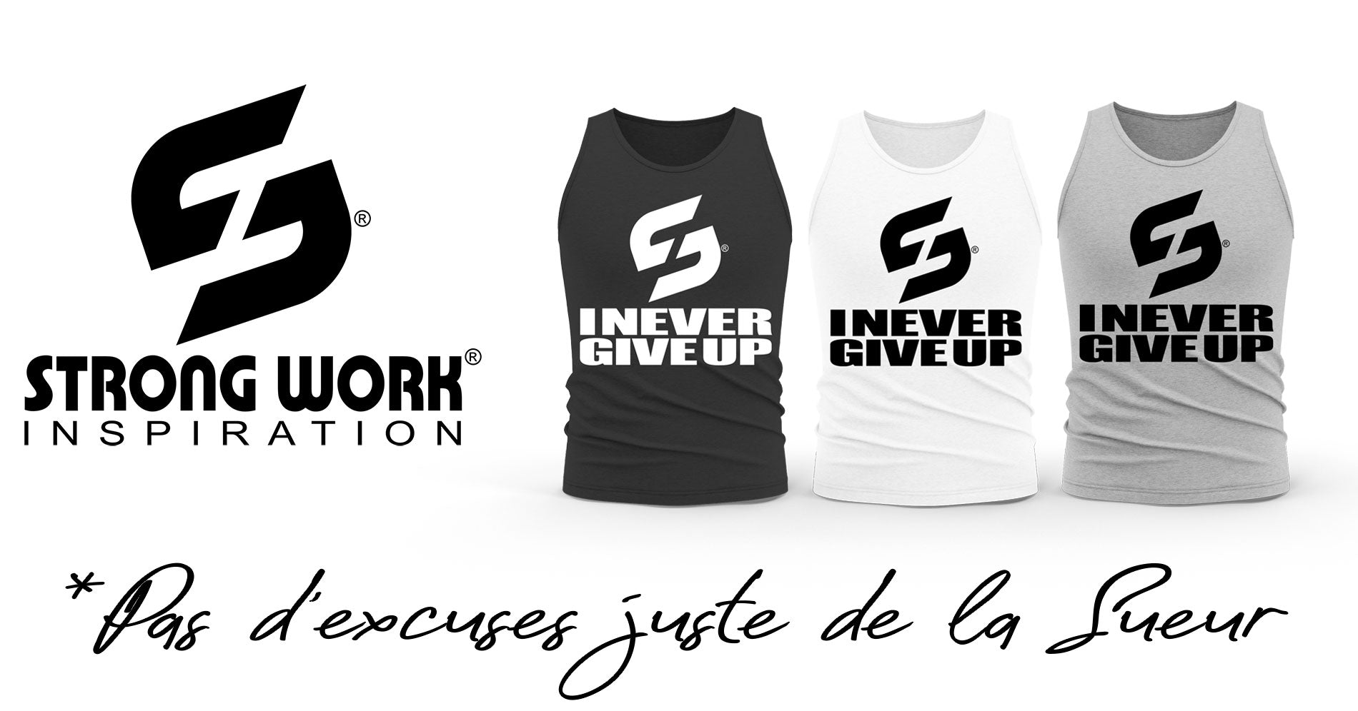 DEBARDEUR BIO STRONG WORK POUR HOMME I NEVER GIVE UP