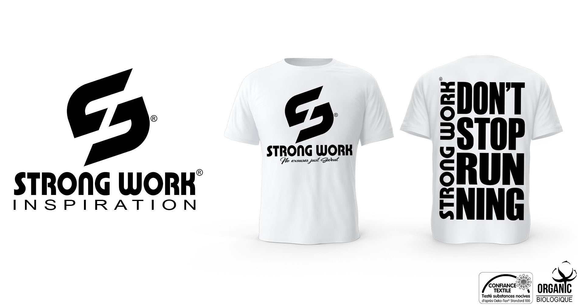 T-Shirt Strong Work Don't Stop Running pour Homme