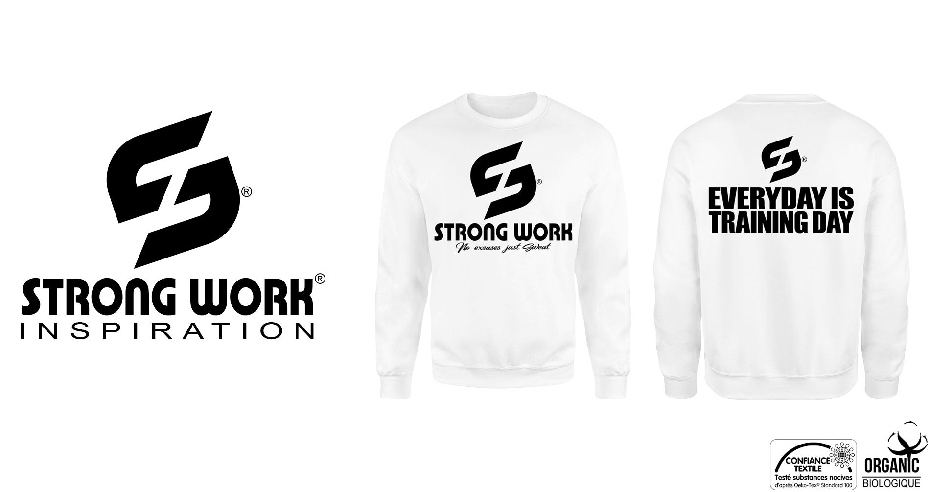 Sweat-Shirt Strong Work EVERYDAY IS TRAINING DAY pour Femme
