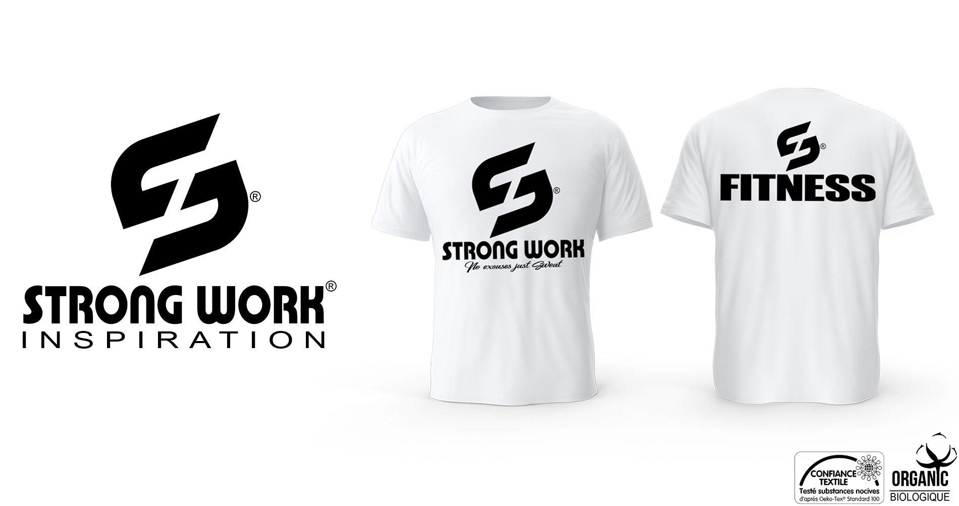 T-SHIRT POUR HOMME STRONG WORK FITNESS