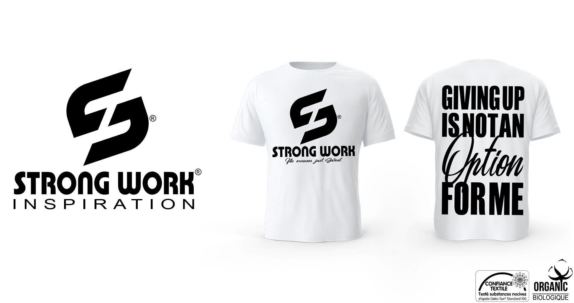 T-Shirt Strong Work GIVING UP IS NOT AN OPTION FOR ME pour Homme